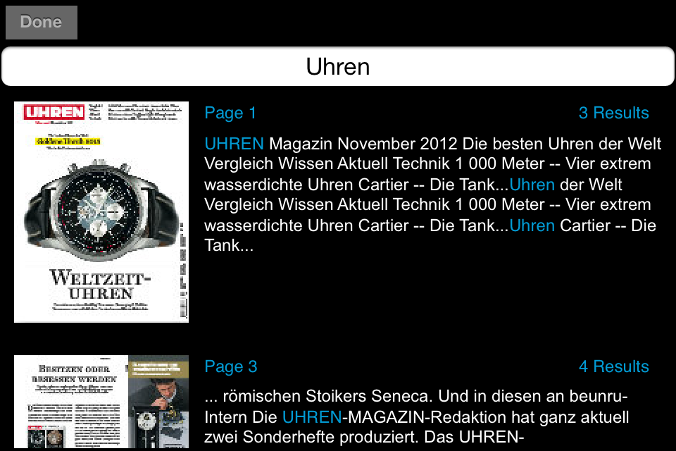 Uhren-Magazin app for iPhone and iPad